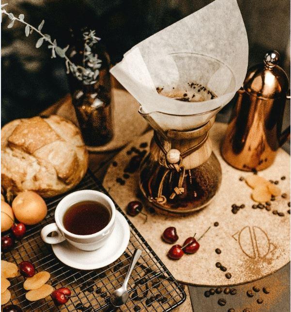 Online koffie drinken